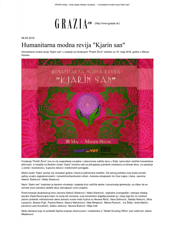 GRAZIA Srbija - moda, lepota, lifestyle, horoskop.