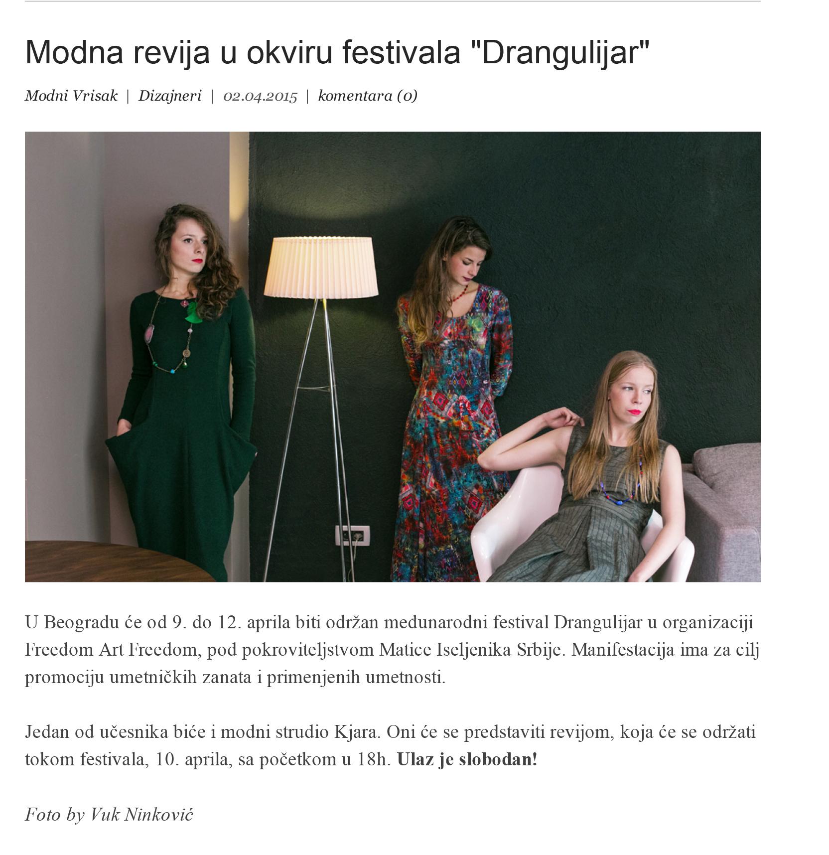 Modna revija u okviru festivala _Drangulijar_-1